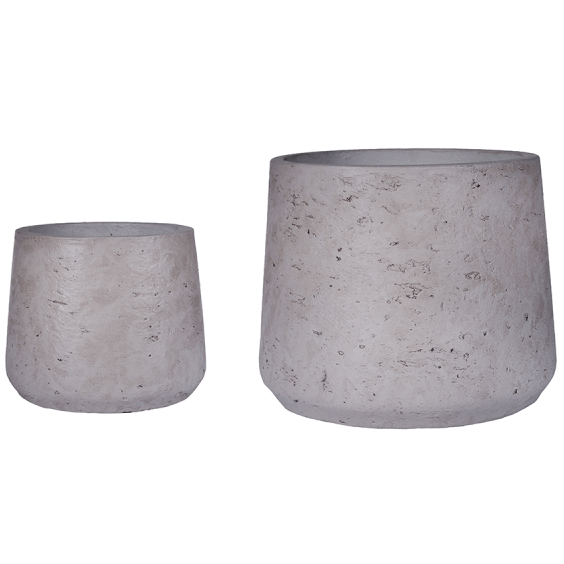 Two Nested Concrete Planters