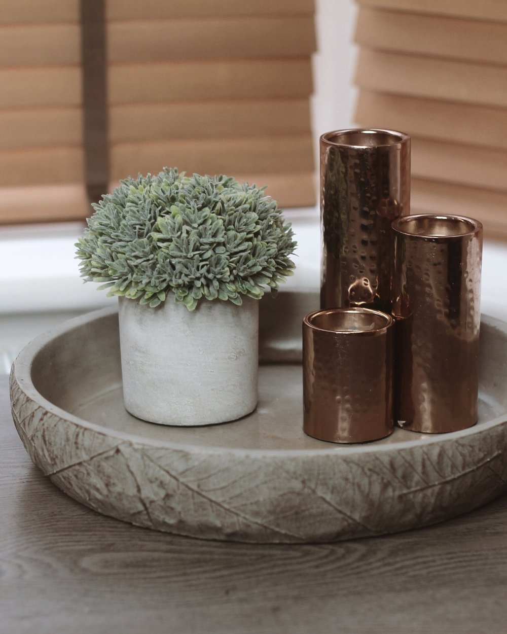 Faux Potted Boxwood  - Homesense Leaf Effect Tray