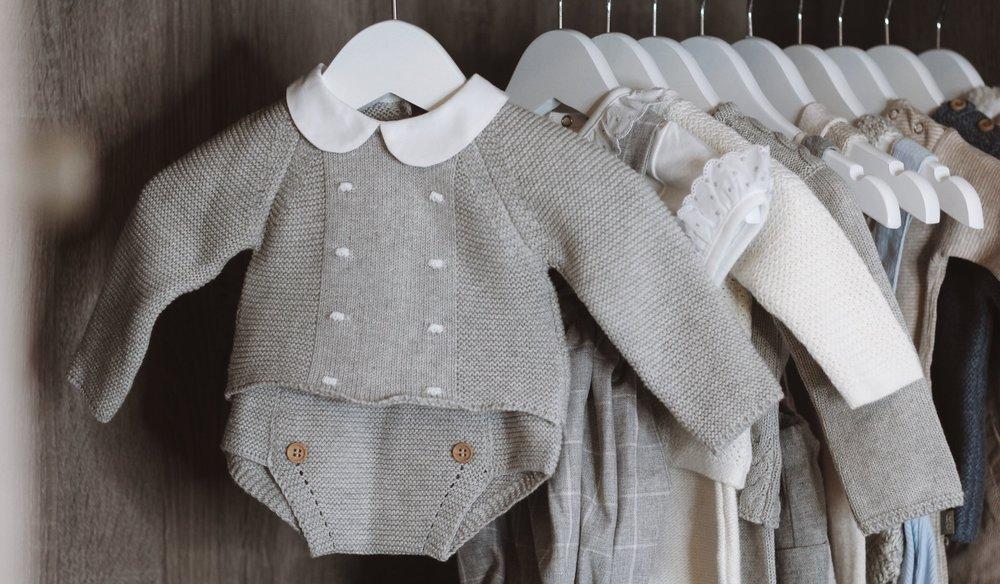 Dot Detail Knitted Grey Set