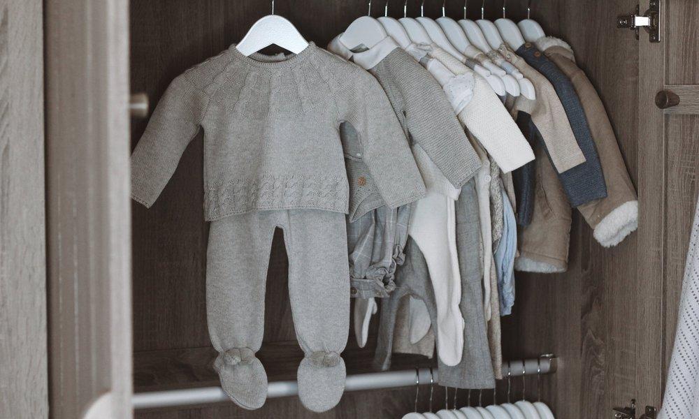 Dot Knit Sweater  &  Grey Knit Bottoms