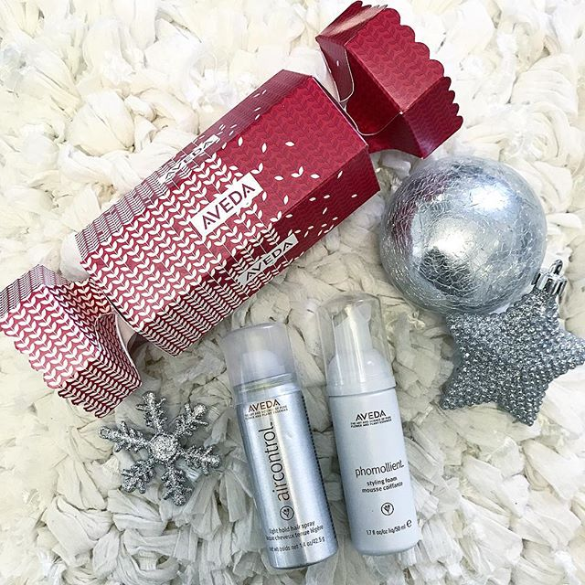 Check out these super cute Aveda holiday crackers! Featuring Avedas Phomollient Styling Foam and Air Control light hold hairspray! A perfect gift for the holidays!!