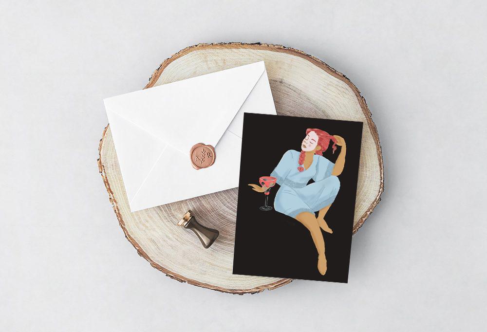 Frigg Greeting Card - mythology Studio.jpg