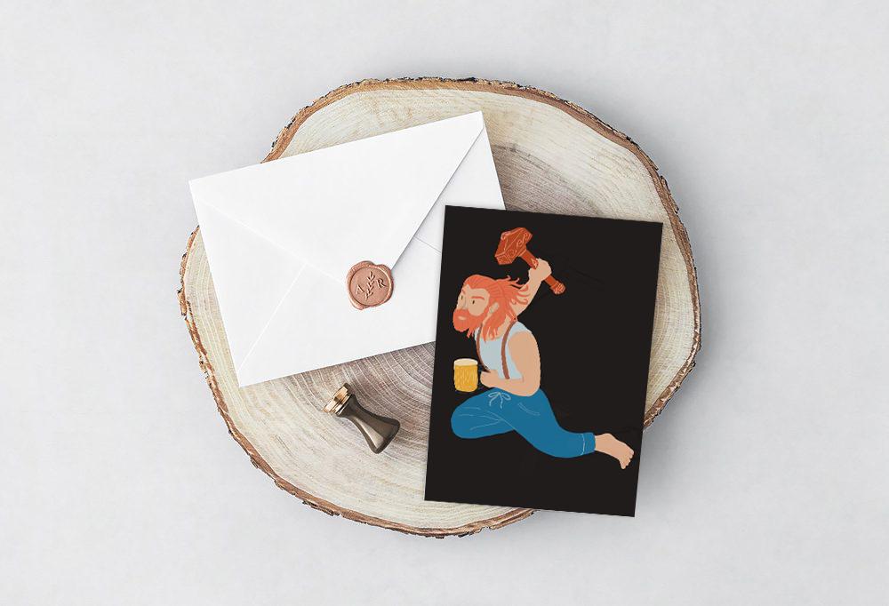 Thor Greeting Card - mythology Studio.jpg