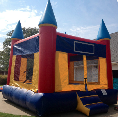 Aladdin's Castle - Ages: 2 to adultInflated Dimensions15'L x 15'W x 15'HMax Weight: 800 lbs.