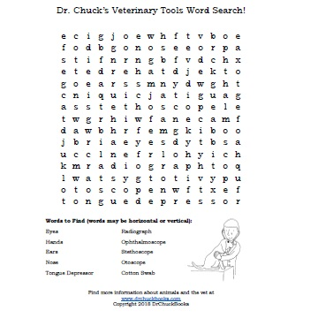 Click Here for a Word Search of common Veterinary Tools!