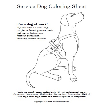 Click Here to download the free Service Dog Coloring Sheet from Dr. Chuck!