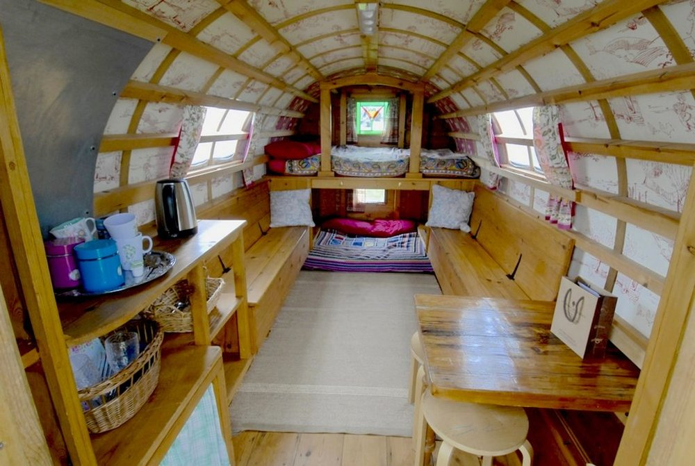 Not just camping - The gypsy bowtop provides a little bit of luxury