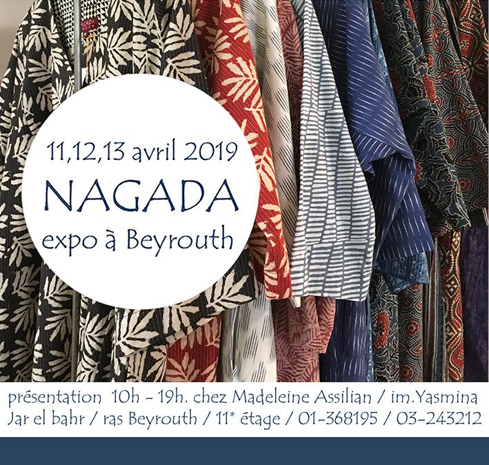 NAGADA à Beyrouth exposition 11-12-13 avril 2019