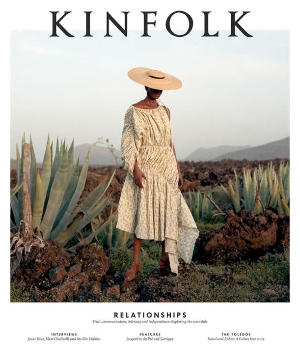 Kinfolk is a slow lifestyle magazine published by Ouur that explores ways for readers to simplify their lives, cultivate community and spend more time with their friends and family.Founded in 2011, Kinfolk is now the leading independent lifestyle magazine for young creative professionals and also produces international editions in Japan, China, Korea and Russia.Published quarterly, Kinfolk maintains a vibrant contributor base from Copenhagen to Cape Town and hosts hundreds of global events that bring the community together. -