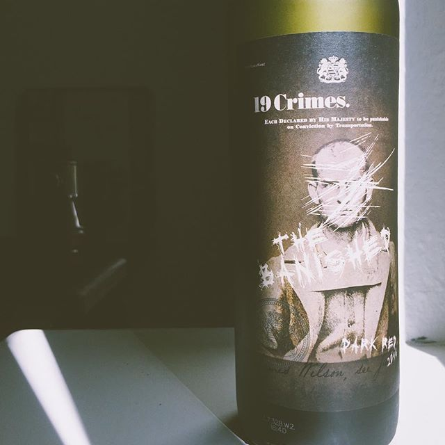"I've read about 19 Crimes, but it's the first time I've tasted it. (Coop recently added it to their selection in Switzerland) 19 crimes refers to British prisoners who were sent to Australia in the 18th century. Every one of them supposedly violated one of the infamous ""19 crimes"" of the time. Thanks to Augmented Reality, you can hear the stories of the criminals directly from them. All you need to do is to dowlobad the app; Living Wine Labels. It's an interesting technology. It would be good to see a hint about the app on the label though. About the wine itself? Well, it's a well balanced Australian blend of Cabernet Sauvignon and Shiraz, with moderate complexity.  #winelabels #winemarketing #19crimes"
