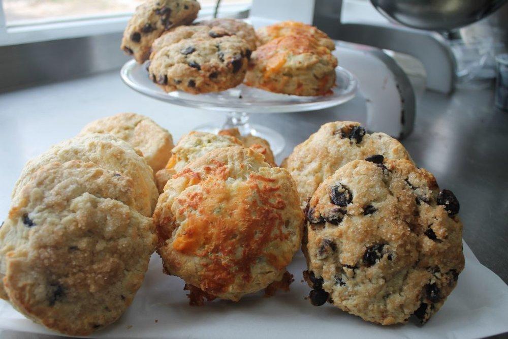 Heavanly sweet & savory scones (Photo Credit: Nutmeg Cafe)