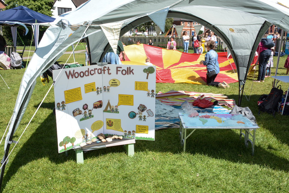 Kids' activities with Woodcraft Folk.