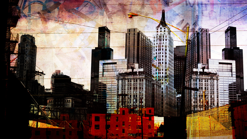 "Nick Haas Art Second City Summit 46"" x 27"""