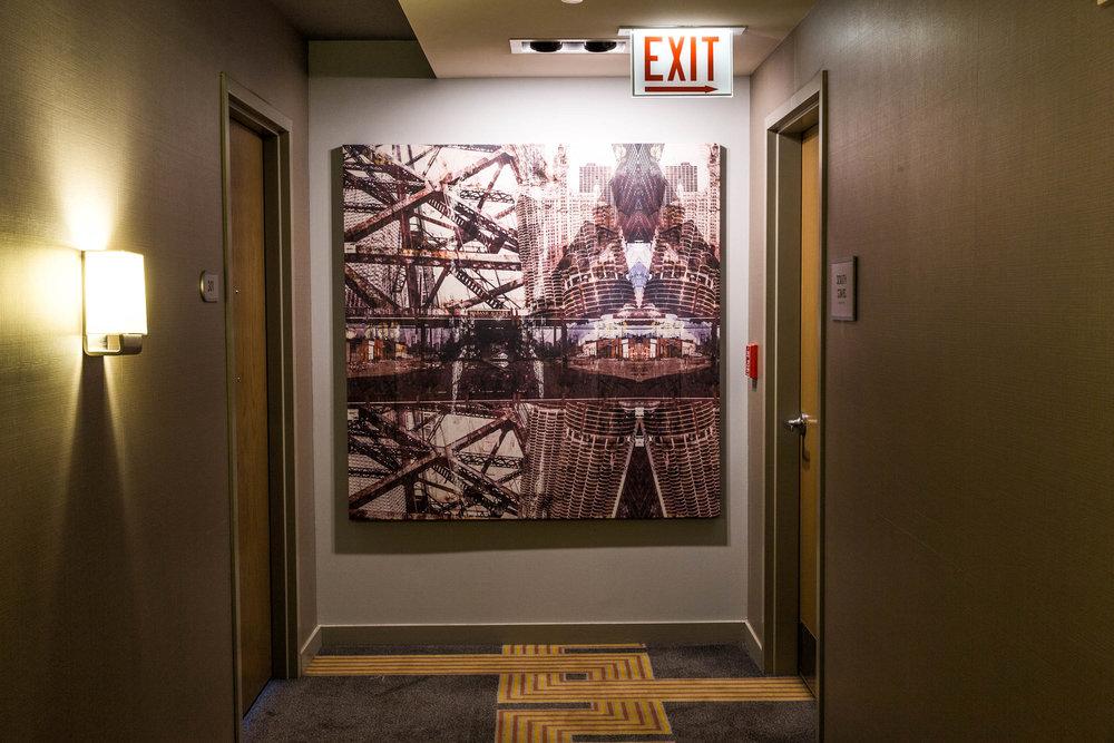 Loews Hotel Hallway Artwork