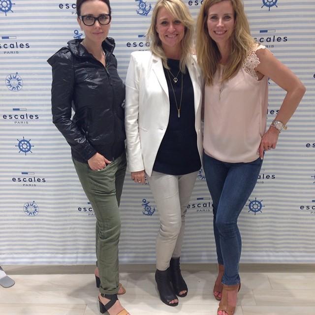 Ouverture de la boutique Escales Paris avec @mllemaximroy et @juliedupage ...deux belles filles super inspirantes ! #escalesmtl