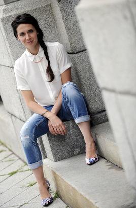 mélissa top blanc jeans