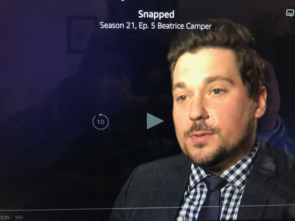 As an Attorney featured on an episode of Snapped -