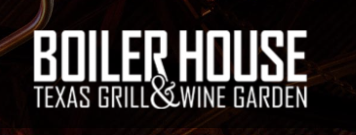 Boiler House Texas Grill & Wine Garden , Dinner  312 Pearl Pkwy, Building 3, San Antonio, 78215  P 210-354-4644    Make a Reservation on OpenTable