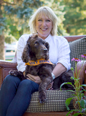 Roxy Founder Diane Smith and the one and only, original Roxy therapy dog.