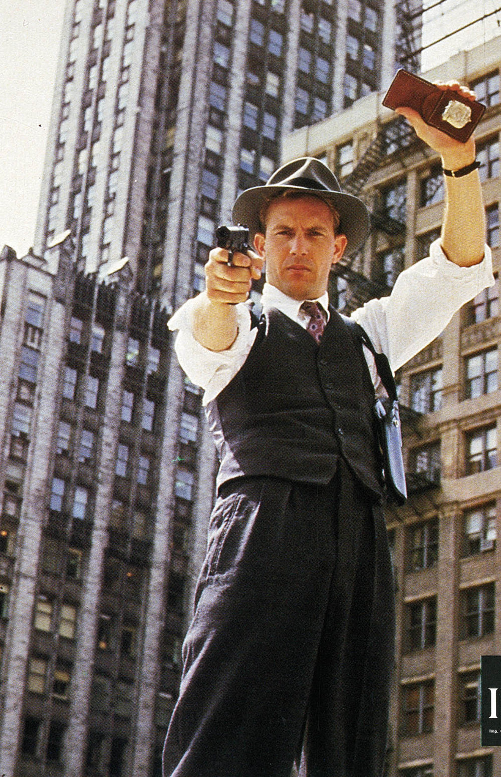 "Gate Agent Supervisor as Kevin Costner as Eliot Ness in ""The Untouchables"""
