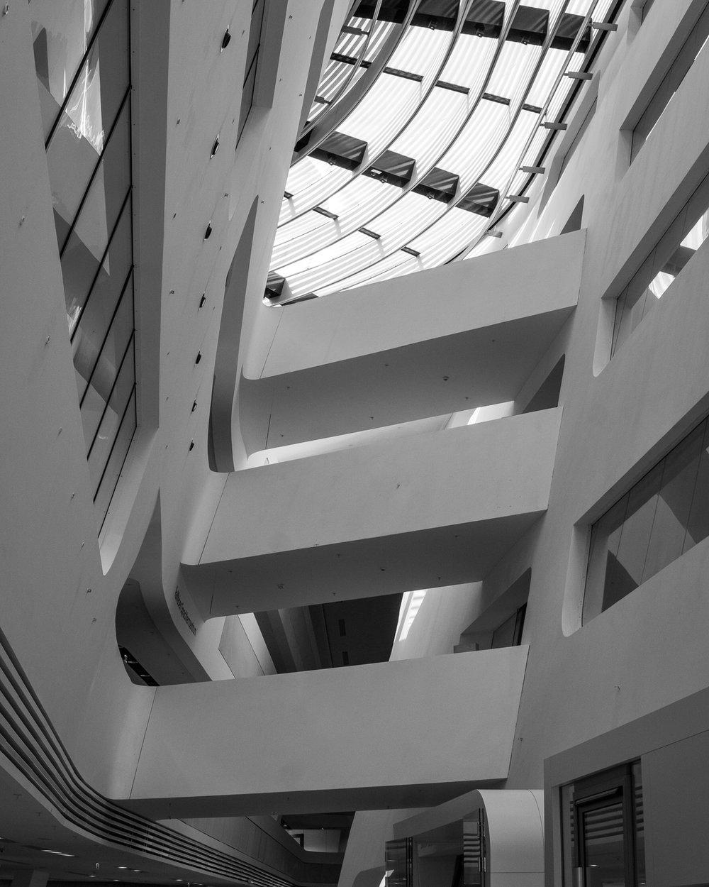 zaha hadid, library, university of vienna, austria