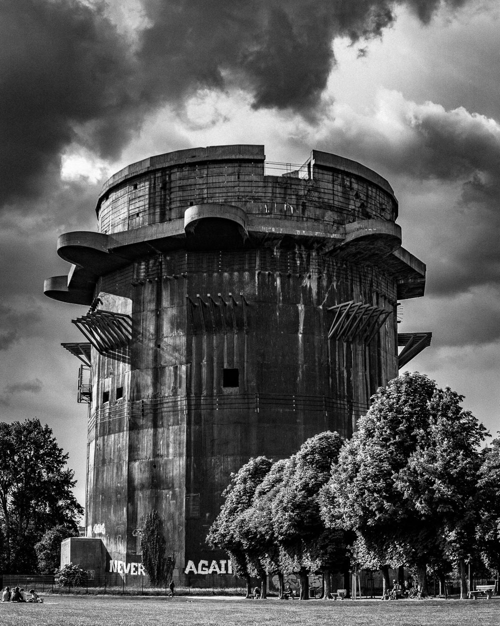 Flak Tower, Vienna, Austria, 2018