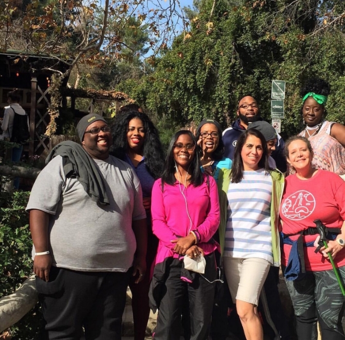 Before the hike at Griffith Park in Hollywood with fellow OWN Ambassadors of OWN: Oprah Winfrey Network.