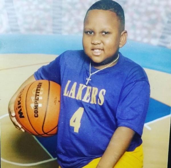 Eight year old Rashaad King.