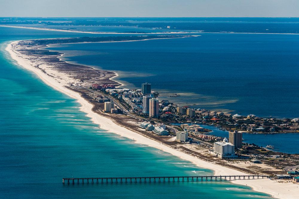 Pensacola Beach Bird's Eye View