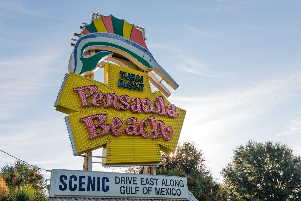 Famous Pensacola Beach Sign