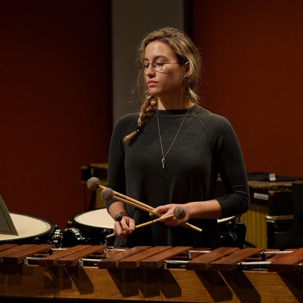 Caitlin Cawley  is a NYC-based percussionist, improviser, and electronic musician. She is a founding member of Amalgama and has performed with groups in Boston and New York State, such as Gamelan Galak Tika, (Open) Free Improvisation Ensemble, and the Performance in Peace Initiative at the United Nations. An avid interdisciplinary collaborator, she has designed installations and curated performances with artists, dancers and video artists, including a 3-month residency at Gallery 263 in Cambridge, MA with Urbanity Dance Company, and a sound installation/collage art collaboration with artist Taylor Mortell. This summer, she attended the Bang on a Can Summer Music Festival at MassMOCA, and a three-day free improvisation residency at The Cannery in Penobscot, Maine. Caitlin holds a BM from Boston University, where she studied with Timothy Genis and Samuel Z. Solomon, and is recently completed her MM at Manhattan School of Music, where was a student of Jeffrey Milarsky, John Ferrari, and David Cossin.
