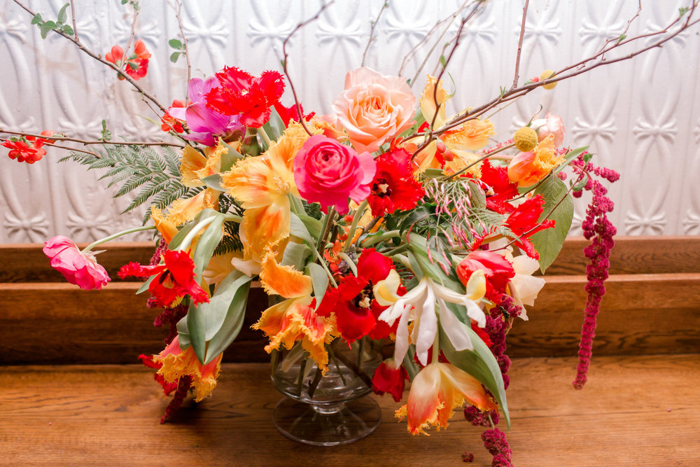 Bright Flowers | Colorful & Sweet Brooklyn Wedding | The Green Building