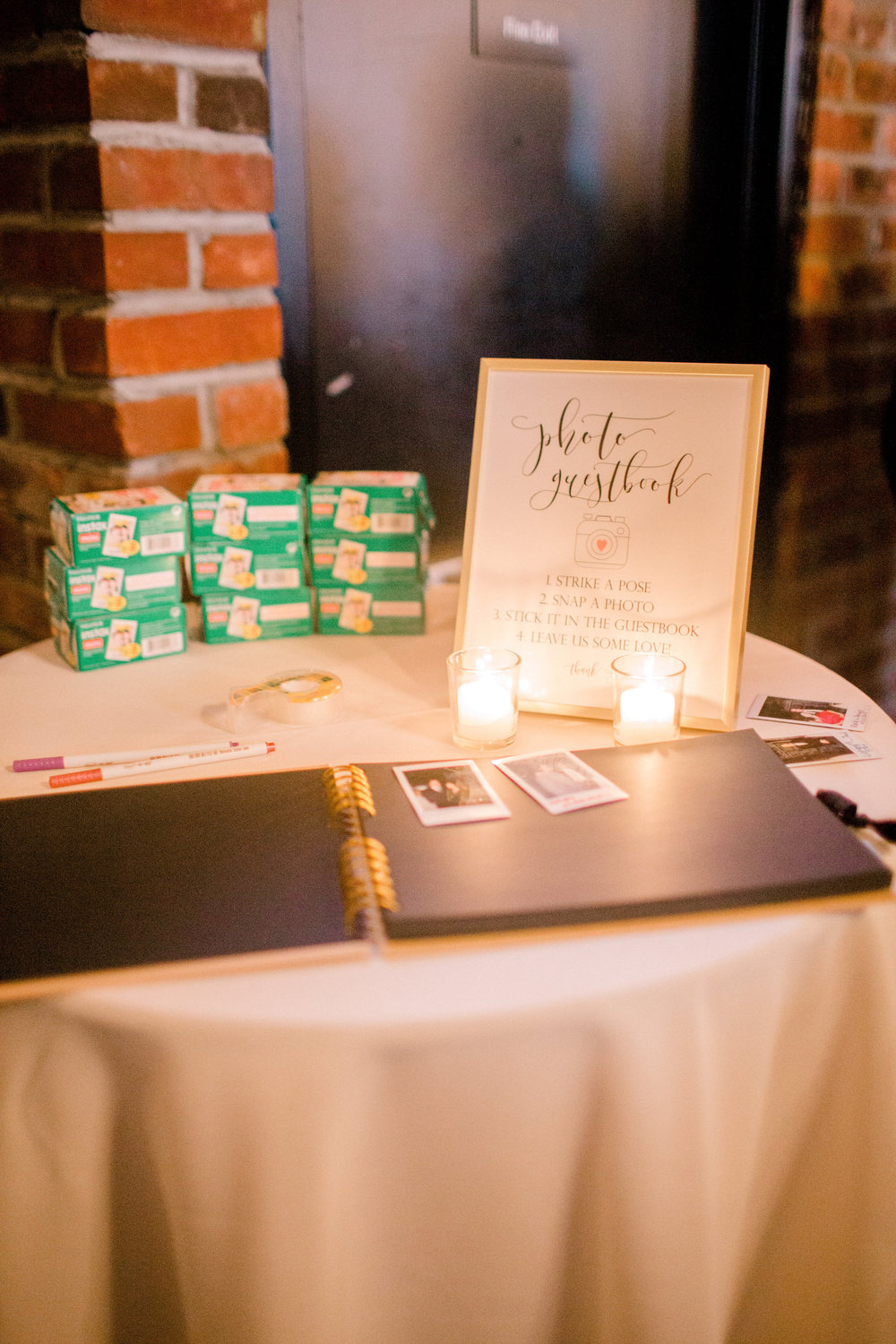 Photo Guestbook | Details | Colorful & Sweet Brooklyn Wedding | The Green Building