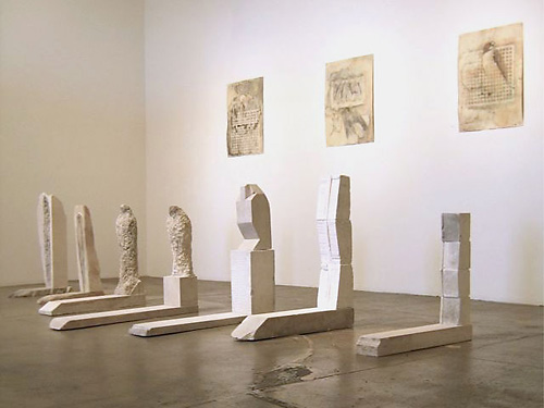 """Gamut,"" Installation View, Braunstein/Quay Gallery, 2007 Provencal limestone and pigment 37 x 189 x 40 inches"