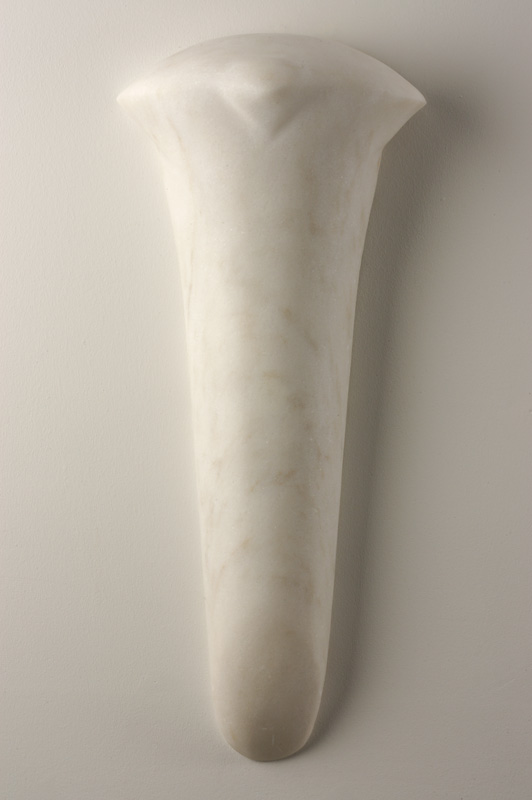 """""""Conescale,"""" 2006 Portuguese marble 25 x 10.75 x 3 inches"""