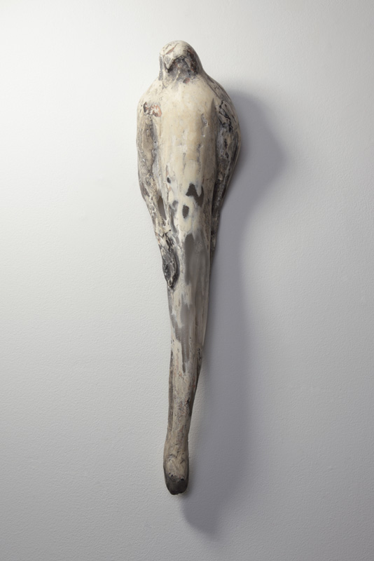 """Avatara,"" 2010 Hand blown glass, marble mix, and sumi-e ink Gaffer: Ferd Theriot 21.5 x 5 x 4"