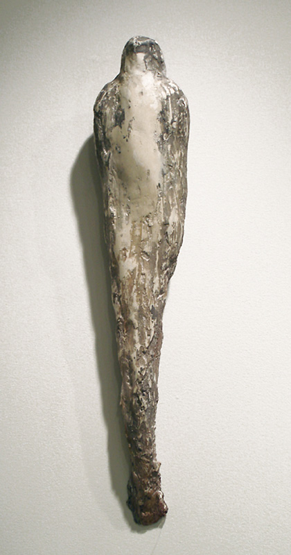 """Small Falcon,"" 2007 Marble mix and hemp 25 x 6 x 4 inches"