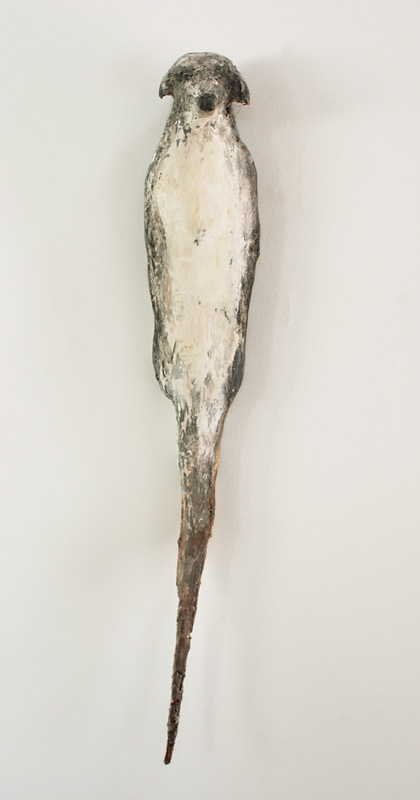 """Mayo Buddhi,"" 2007 Marble mix, willow and pigment 48 x 8 x 7 inches"