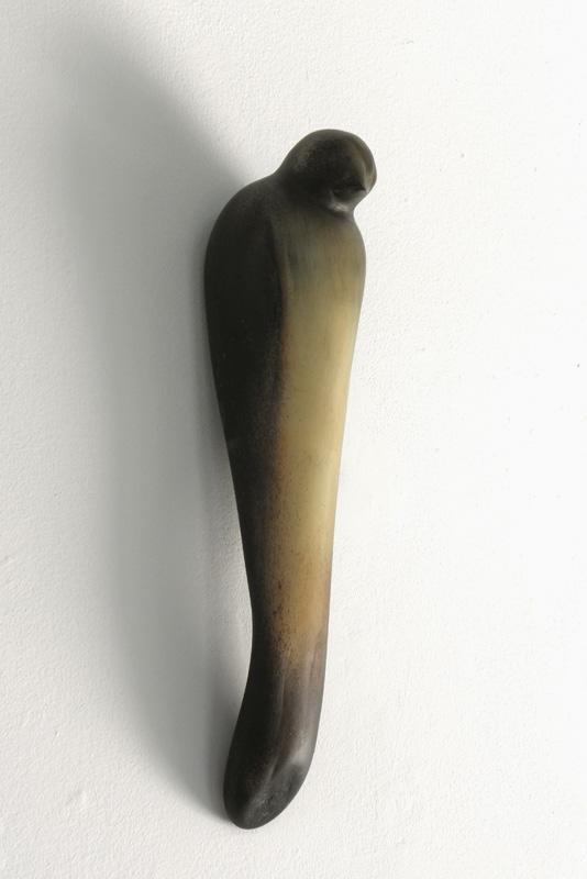 """""""Ferd's Bird,"""" 2010 Hand blown glass 16 x 4 x 4 inches"""