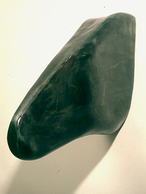 """Stone,"" 1999 Mixed media 24 x 8 x 26 inches"
