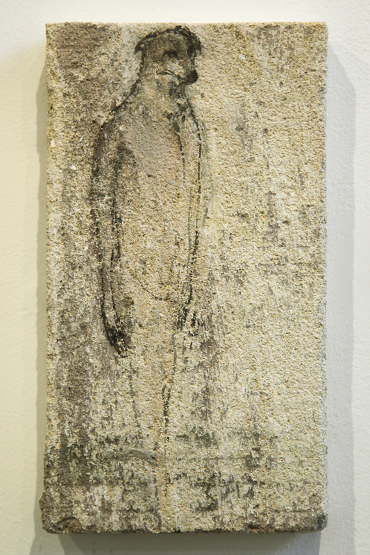 """Mayo Tablet,"" 2010 Sumi ink on limestone 13 x 7.5 inches"