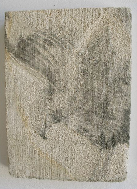 """Paige's Book B, II,"" 2009 Sumi ink on limestone 14 x 7 inches"