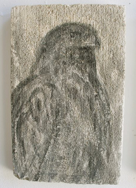 """""""Paige's Book B, III,"""" 2009 Sumi ink on limestone 14 x 7 inches"""