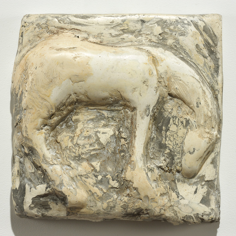 """Cash,"" 2006 Marble mix 13.5 x 13.5 x 3 inches"