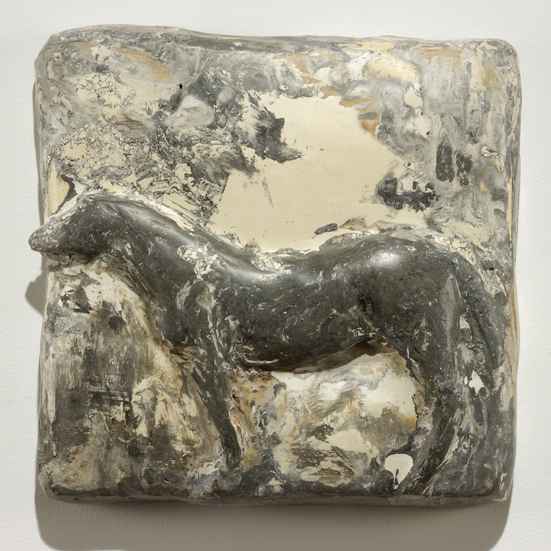"""Negrita,"" 2006 Marble mix 13 x 13 x 2.75 inches"