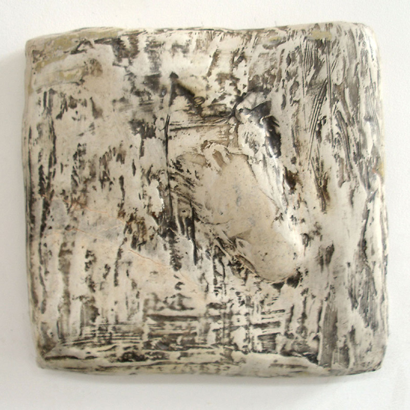 """""""Fence,"""" 2006 Marble mix 13 x 13 x 2.75 inches"""