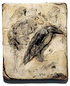 """Heron/Horse,"" 2004 Mixed media 11 x 10 x 1 inches"