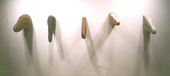 """Horse Heads,"" 1994 Mixed media"