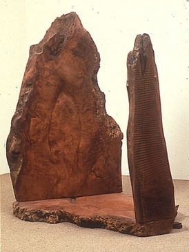 """Listening,"" 1990 Redwood 65 x 53 x 49 inches"