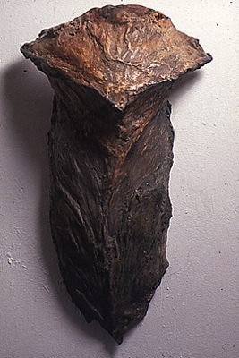"""Cone Scale,"" 1989 Mixed media 24 x 12 x 11 inches"